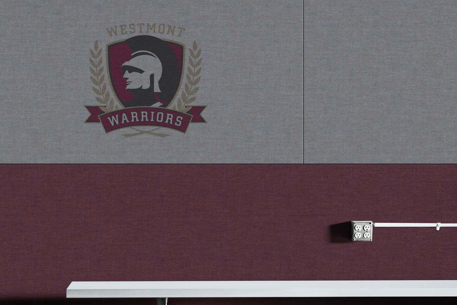 Westmont Warriors wall