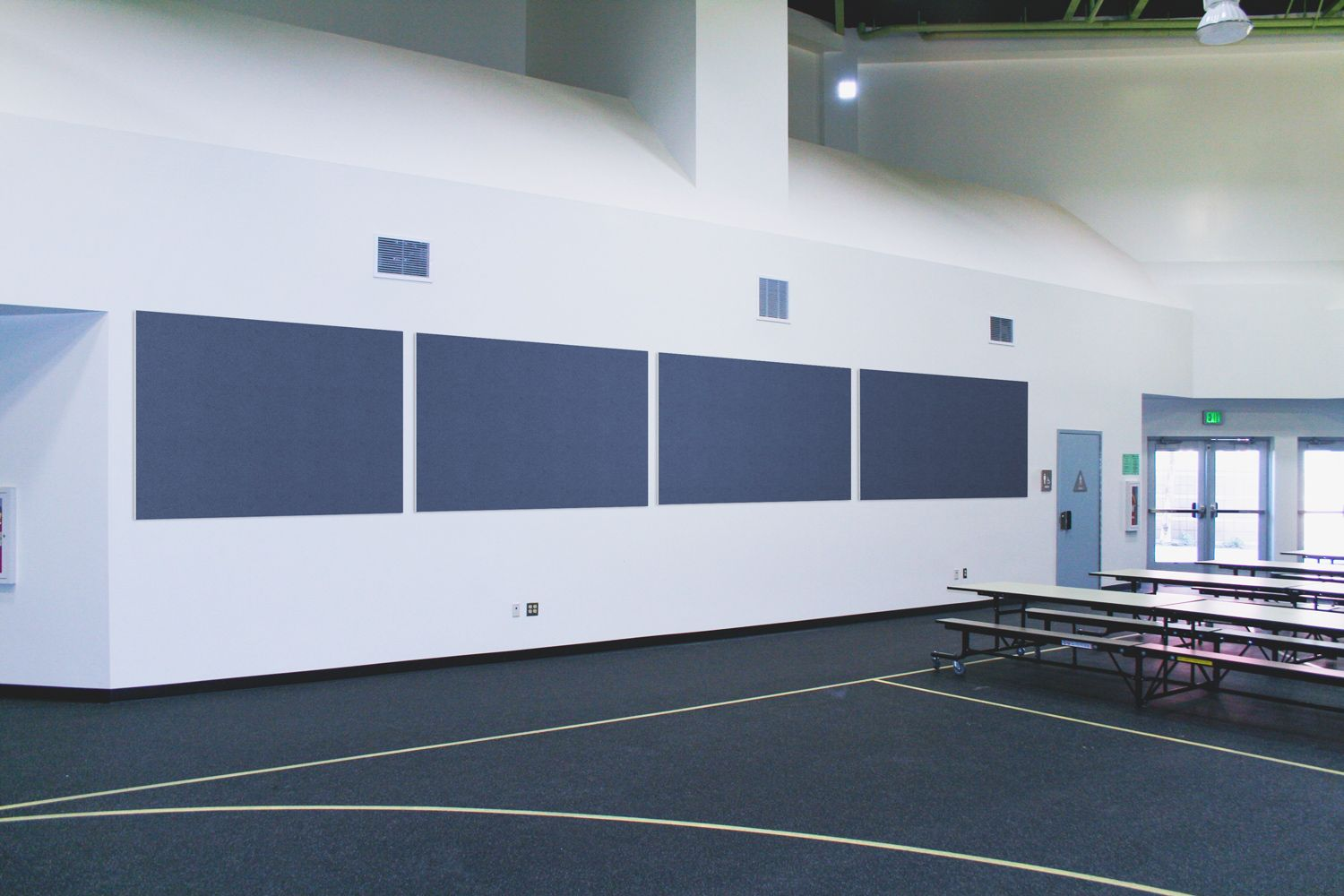 laminated panels in a gym