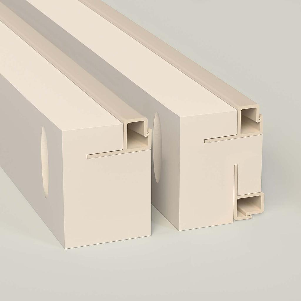 Sample 2 in. Square Low Leg — Max-Line® Fabric Mounting Frame FS105