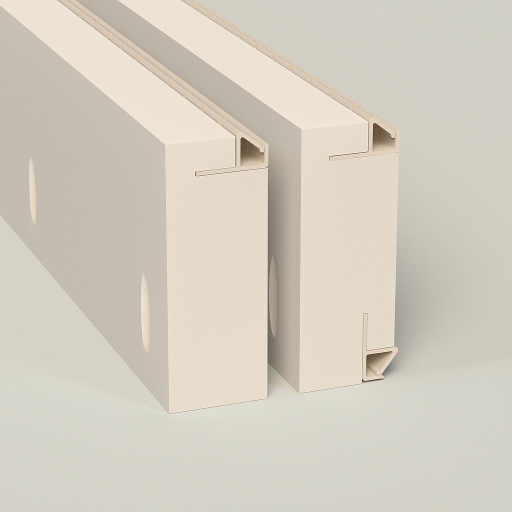 Sample of 4 in. Beveled Front Load — Max-Line® Fabric Mounting Frame FS200