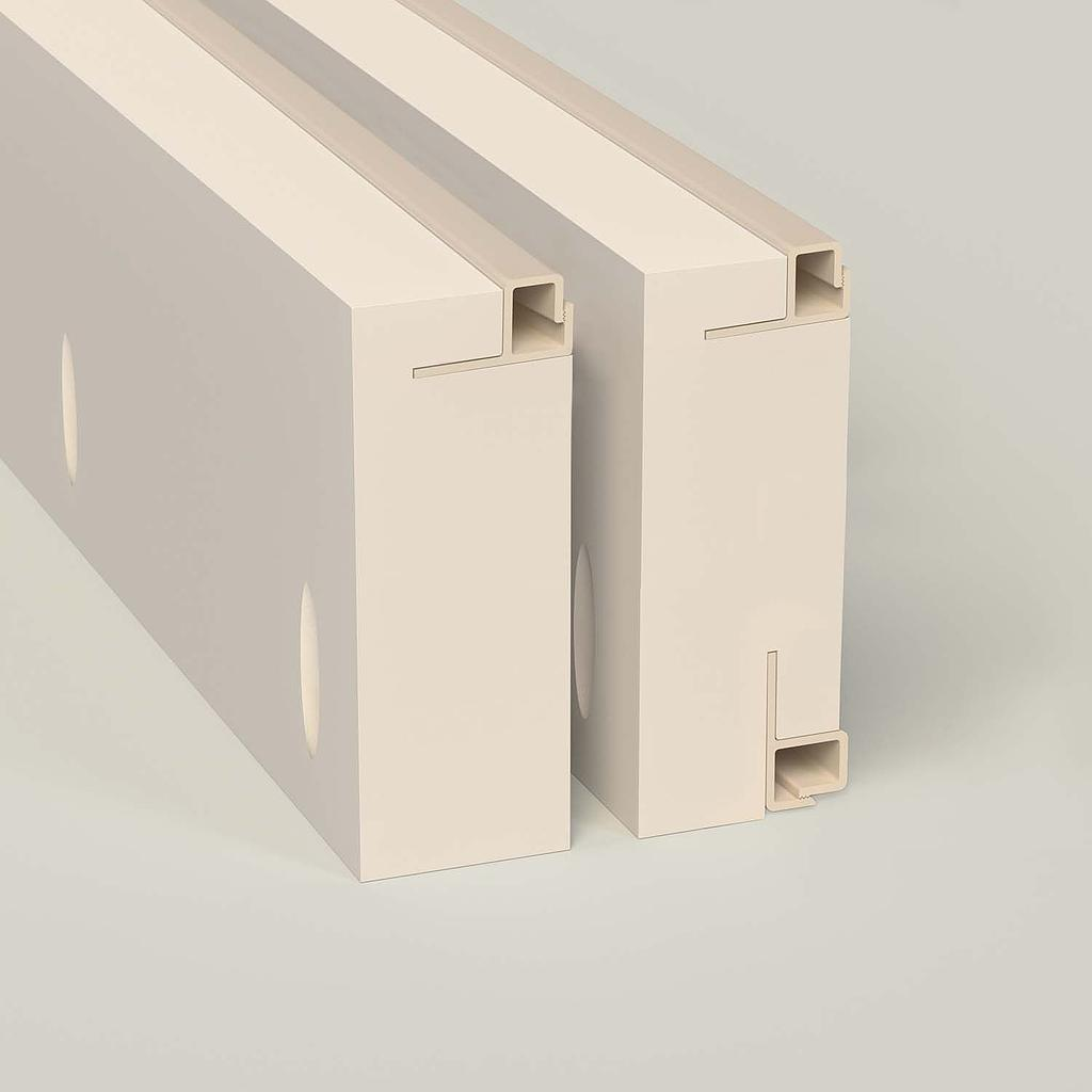 Sample 4 in. Square Front Load Low Leg — Max-Line® Fabric Mounting Frame FS105