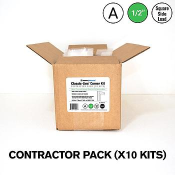 Classic-Line® 1/2 in. Square Side-Load A Kit — Fabric Corner Contractor Pack (10 Kits)