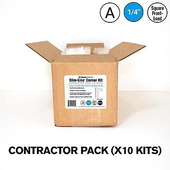 Slim-Line® 1/4 in. A Kit — Fabric Corner Contractor Pack (10 Kits)